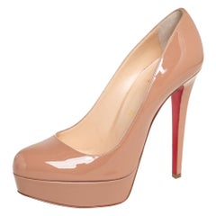 Christian Louboutin Nude Patent Leather Bianca Pumps Size 38