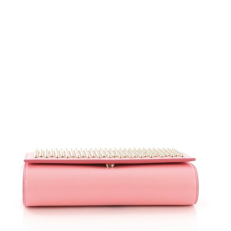 Women's Christian Louboutin Paloma Clutch Spiked Leather For Sale