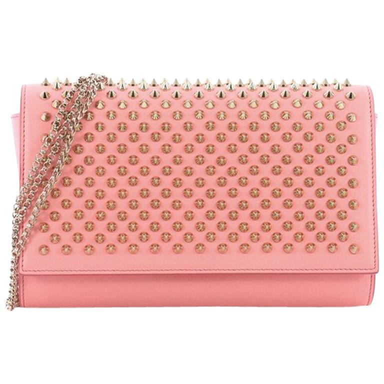 Christian Louboutin Paloma Clutch Spiked Leather For Sale