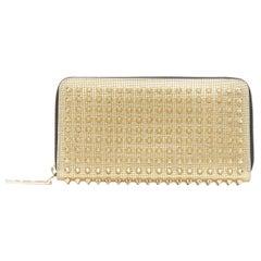 CHRISTIAN LOUBOUTIN Panettone metallic gold spike stud continental long wallet