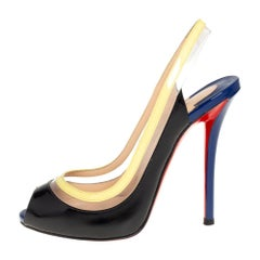 Christian Louboutin Patent Leather And Paulina Pointed Toe Sandals Size 36
