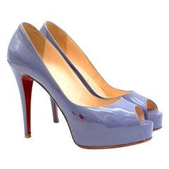Christian Louboutin Patent Leather Peep-toe Pumps 40
