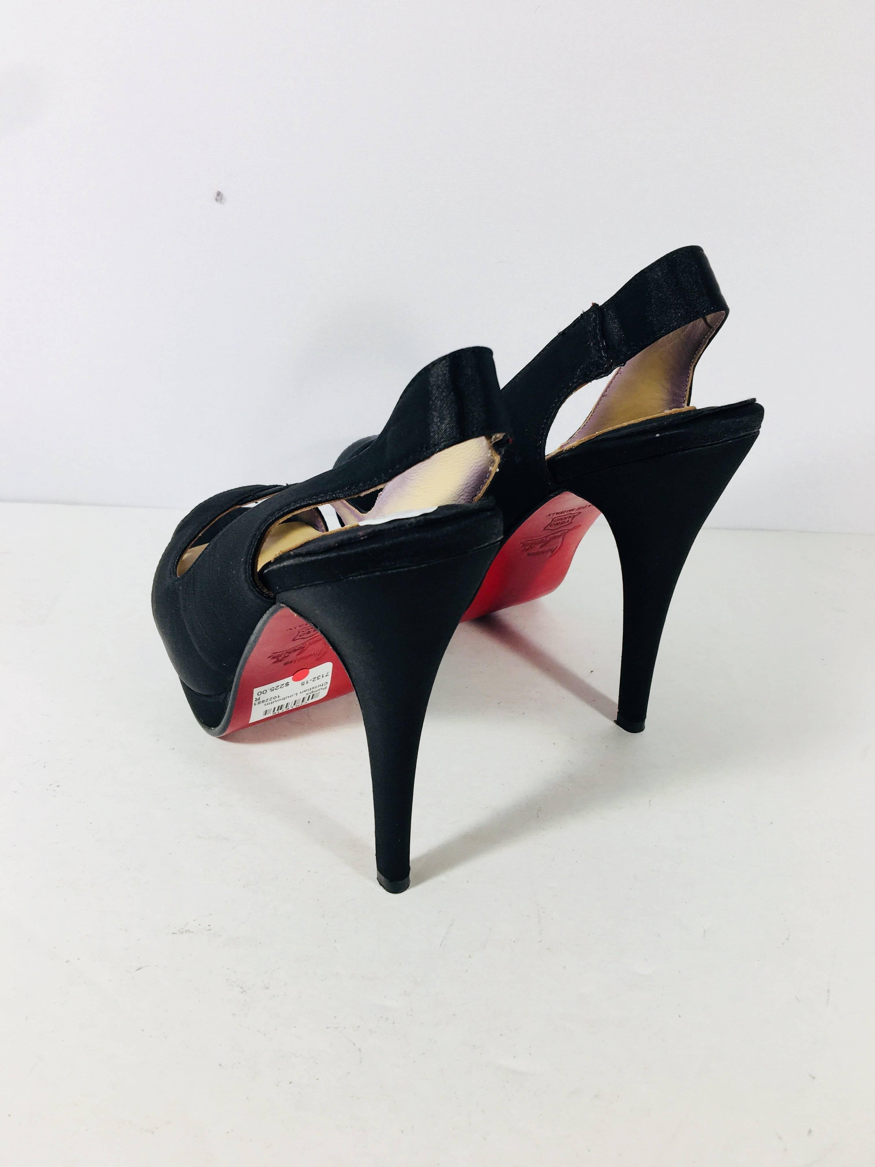 super popular 48991 21923 Christian Louboutin Peep Toe Heels
