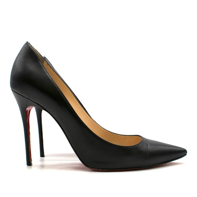 Christian Louboutin Pigalle Nappa Shiny Pump  - Pigalle Nappa Shiny Black Pump - 100m stiletto heel - Pointed toe - Nude leather insole with Christian Louboutin's logo embroidered - Christian Louboutin's classic red sole  Please note, these items