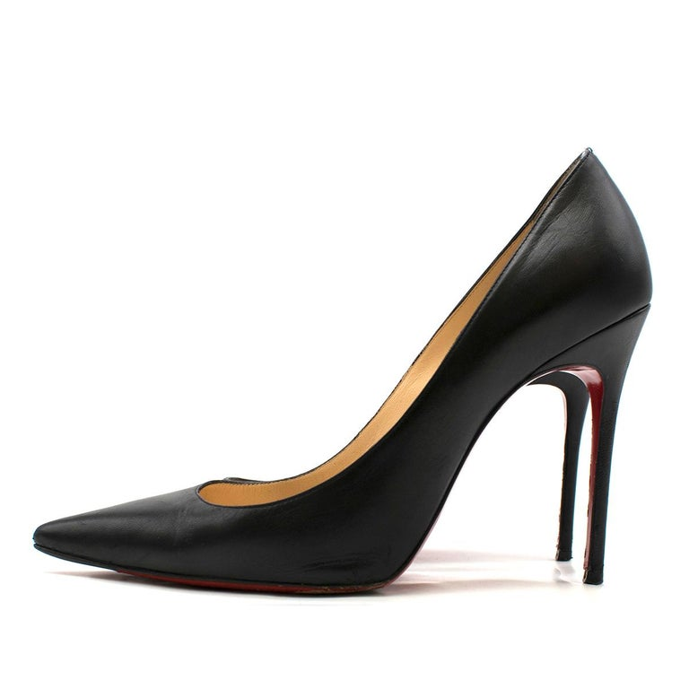 Black Christian Louboutin Pigalle Nappa Shiny Pump US 7 For Sale