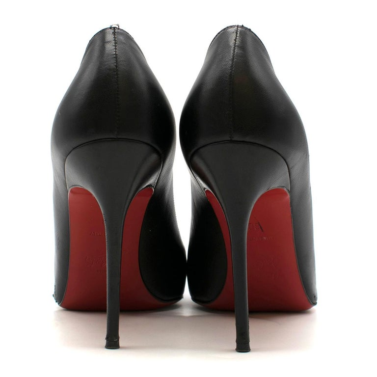 Christian Louboutin Pigalle Nappa Shiny Pump US 7 In Good Condition For Sale In London, GB