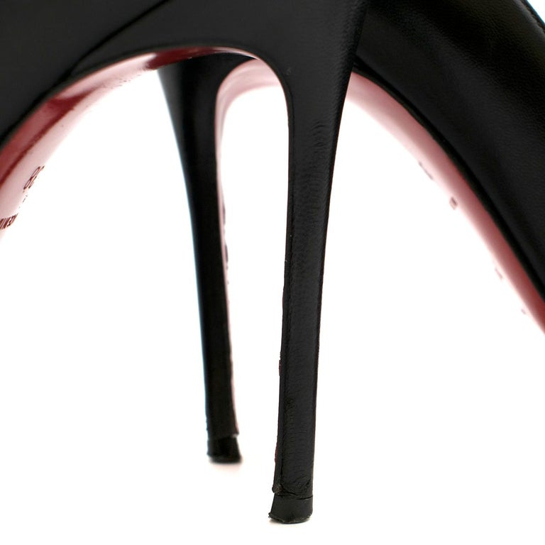 Christian Louboutin Pigalle Nappa Shiny Pump US 7 For Sale 2