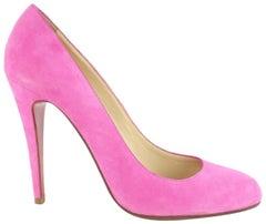 Christian Louboutin Pink Capretto Suede Pump 17clz1012 Sandals