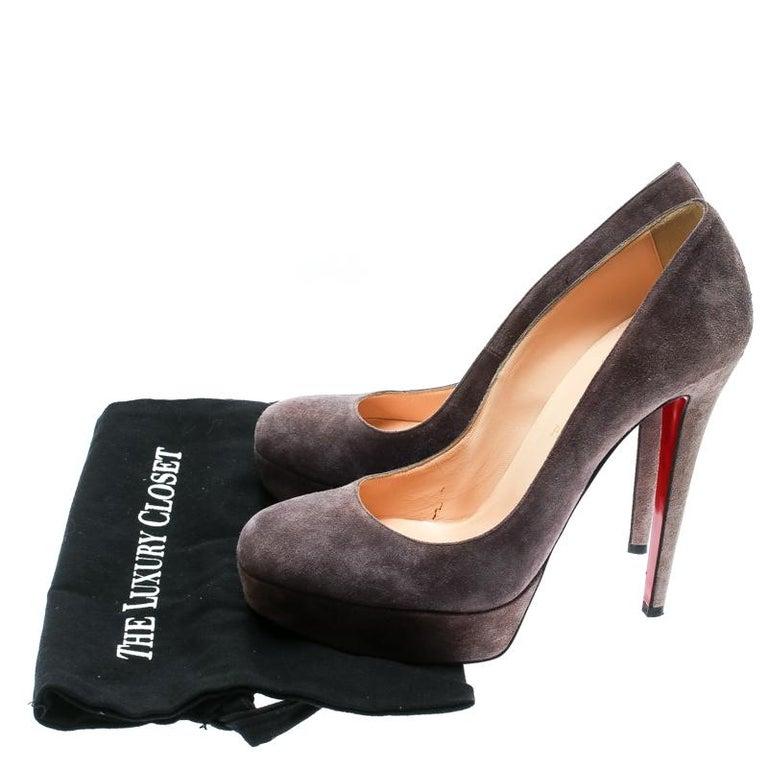 5f111ea3c69 Christian Louboutin Purple Suede Bianca Platform Pumps Size 41 For ...