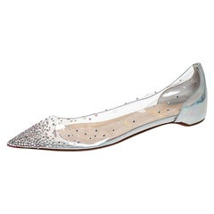 Christian Louboutin PVC Leather Degrastrass Pointed Toe Flats Size 39