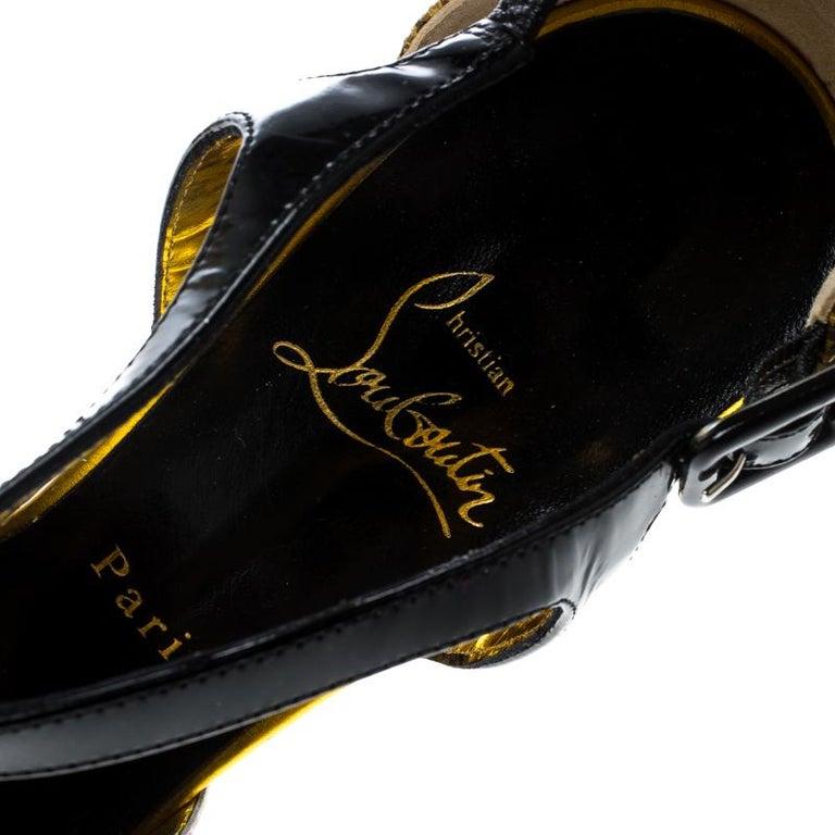 Christian Louboutin PVC No. 299 Trash Platform Ankle Straps Pumps Size 39.5 For Sale 2