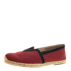 Christian Louboutin Red Canvas Eos Espadrilles Size 46