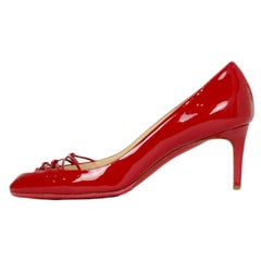 Christian Louboutin Red Patent Leather Pump sz 37