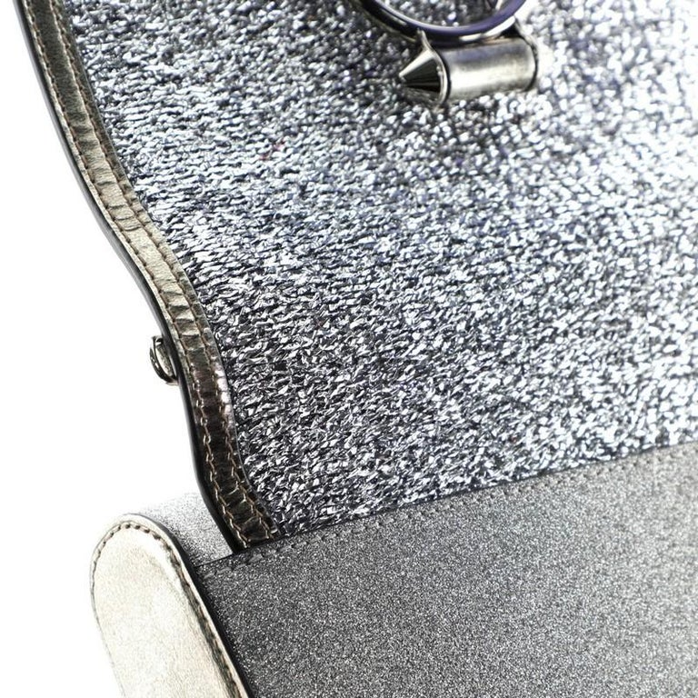 Christian Louboutin Rubylou Clutch Glitter Leather For Sale 2