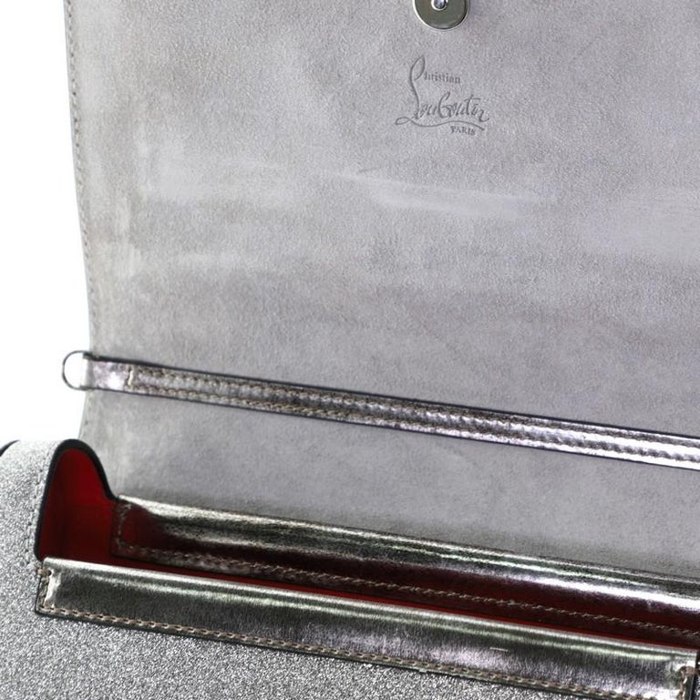 Christian Louboutin Rubylou Clutch Glitter Leather For Sale 3