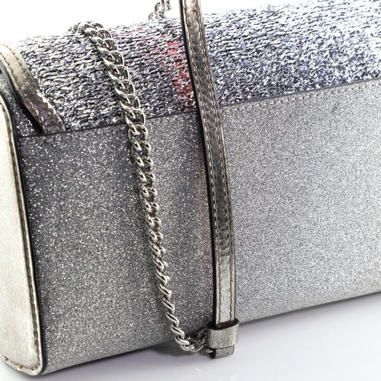 Christian Louboutin Rubylou Clutch Glitter Leather For Sale 5
