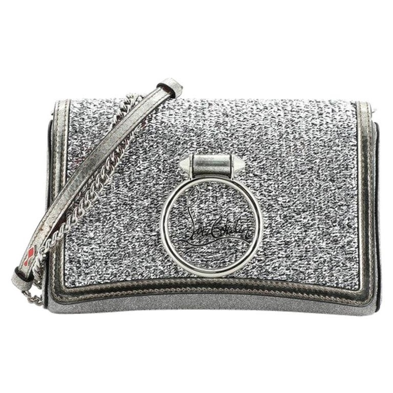 Christian Louboutin Rubylou Clutch Glitter Leather For Sale