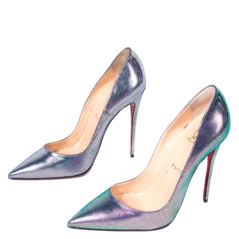 a11a3d3bfd1 Christian Louboutin Scarabe Leather & Mesh So Kate Pumps Size 37