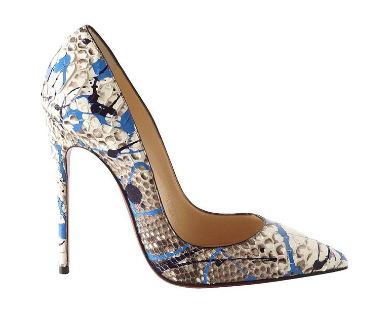 Christian Louboutin Shoe Python Graffiti Pigalle 115mm 35 / 5 New In New Never_worn Condition For Sale In Miami, FL
