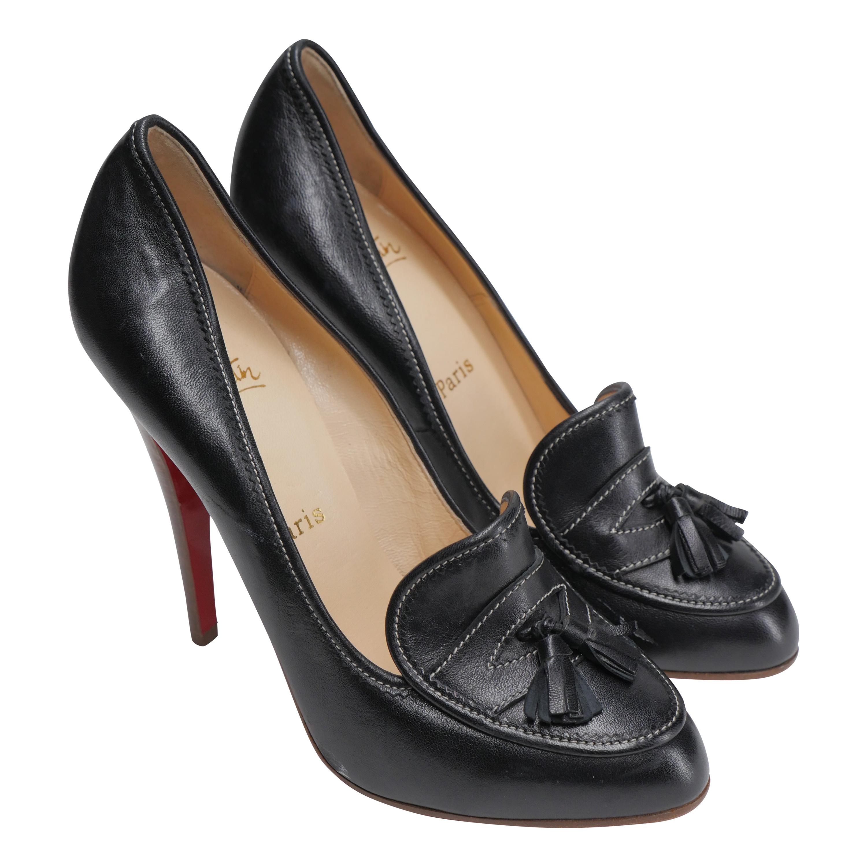 Christian Louboutin  Size 40 Black Loafer Pumps