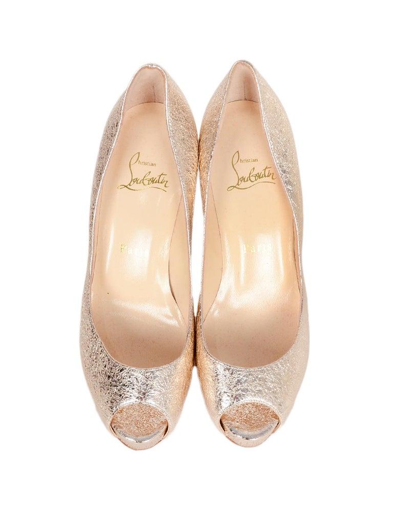 sports shoes 2775c 0de51 Christian Louboutin Specchio Leather New Very Prive 100 Peep Toe Pumps sz  37.5
