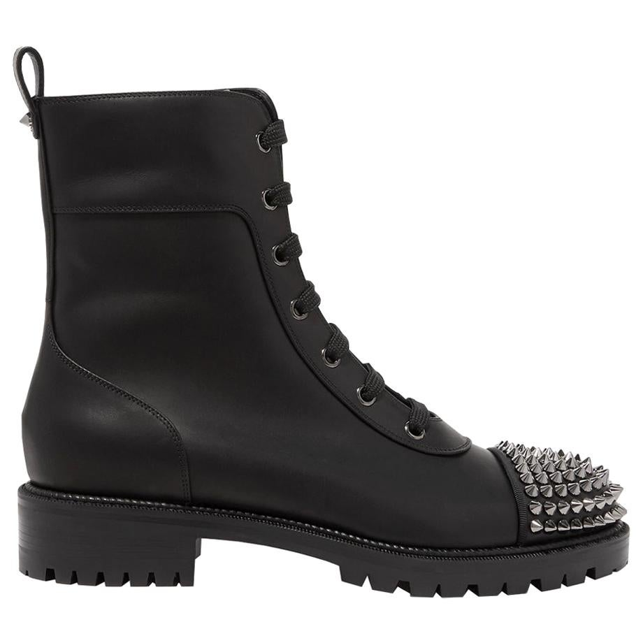 Christian Louboutin Spiked Leather Ankle Boots
