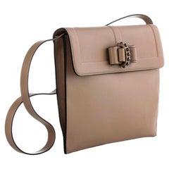 Christian Louboutin Sweet Charity Case Calf Nude Beige Leather Cross Body Bag