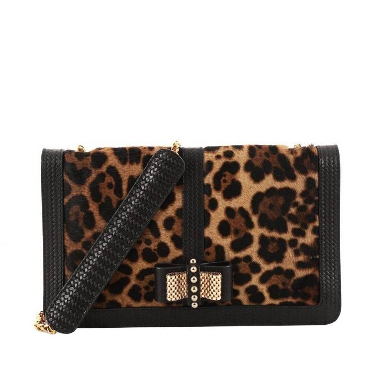 Christian Louboutin Sweet Charity Convertible Clutch Pony Hair Small