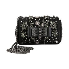 Christian Louboutin Sweet Charity Crossbody Bag Embellished Suede Mini,