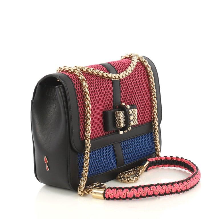 c09d439e75b Christian Louboutin Sweet Charity Crossbody Bag Mesh and Leather Small