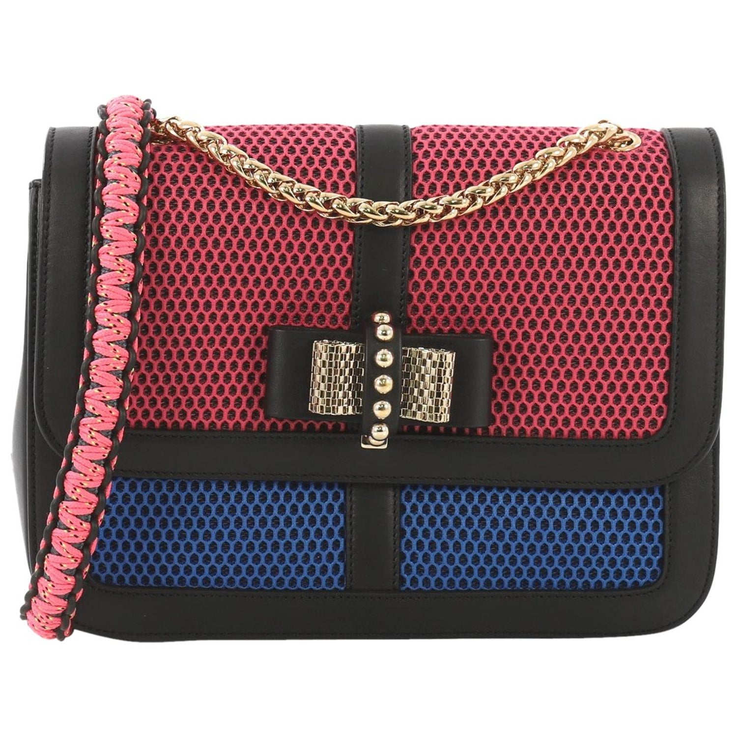 15abb5a7538 Christian Louboutin Sweet Charity Crossbody Bag Mesh and Leather Small