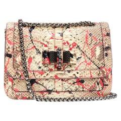 CHRISTIAN LOUBOUTIN Sweet Charity Vulcano pink splatter scaled leather bag