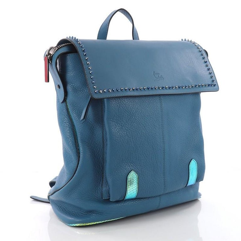 83abdb7c848 Christian Louboutin Syd Flap Backpack Spiked Leather