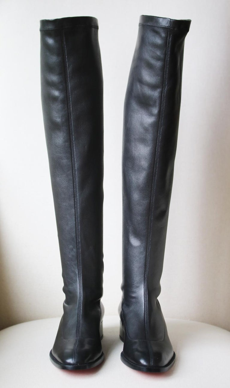 Christian Louboutin Theophila Leather Over-the-Knee Boots In New Condition For Sale In London, GB