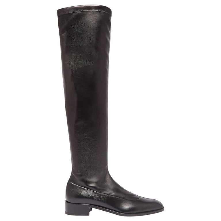 Christian Louboutin Theophila Leather Over-the-Knee Boots For Sale