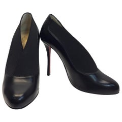 Christian Louboutin 'Toot Couverte' Black Leather Pumps
