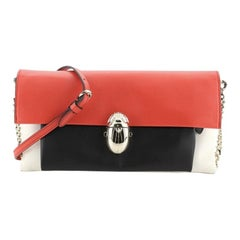 Christian Louboutin Tricolor Khepira Clutch Leather Small