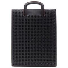 CHRISTIAN LOUBOUTIN Trictrac black studded leather side zip portfolio bag