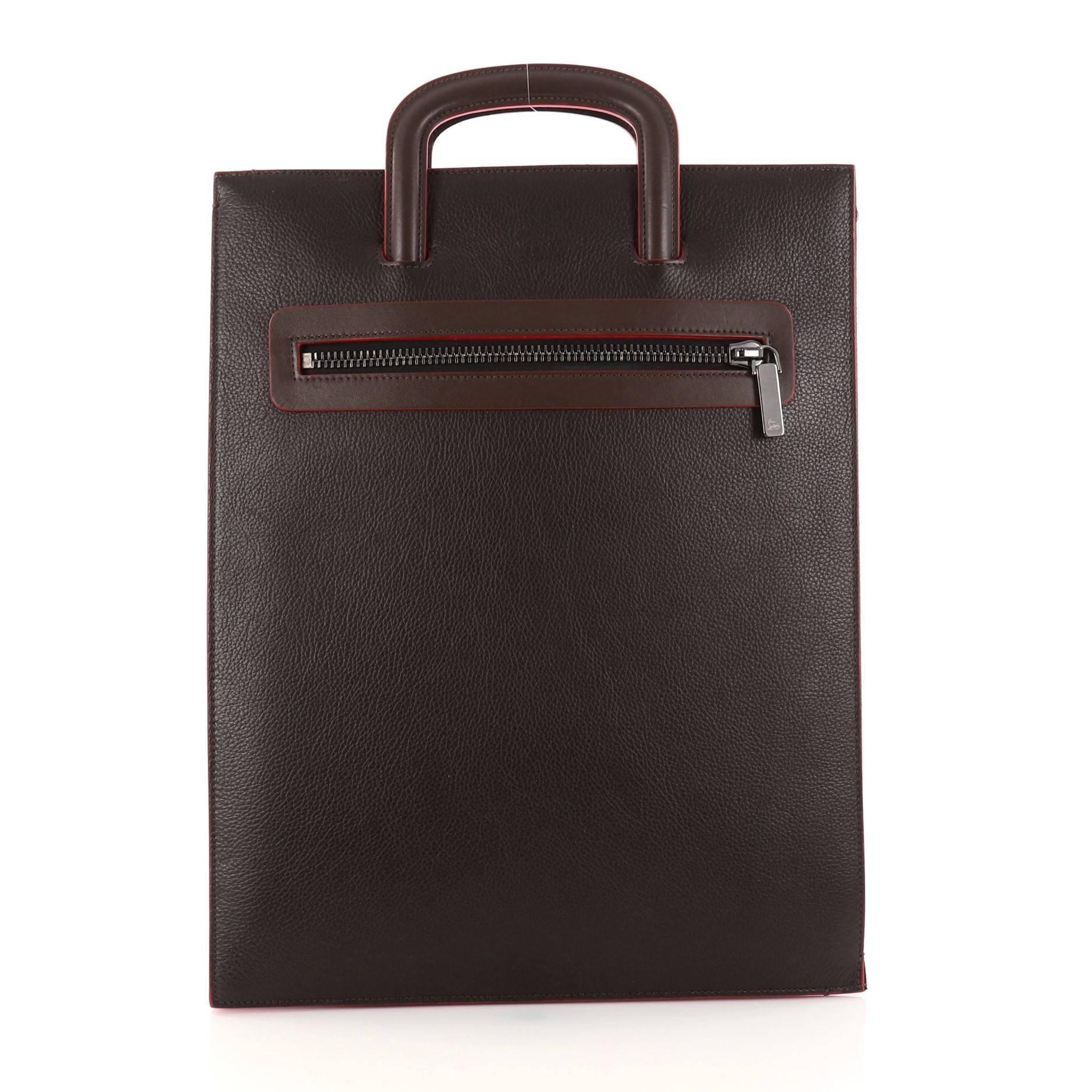 Christian Louboutin Black Leather Drawstring Studded Bag KGd7pHQ
