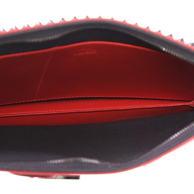 Christian Louboutin Trictrac Portfolio Bag Leather and Spiked Leather Small 2