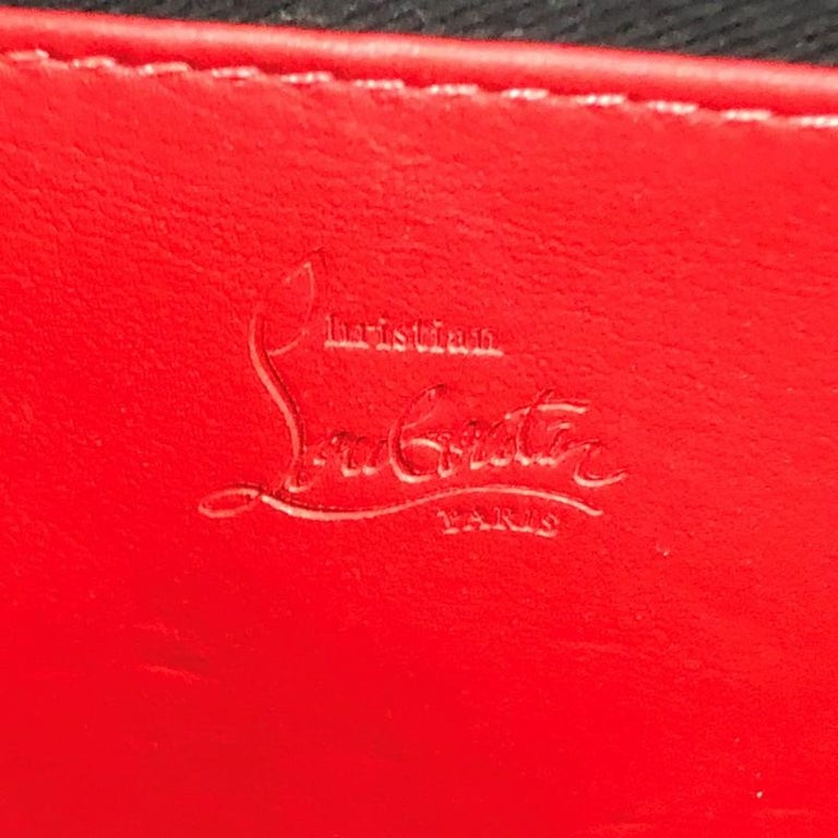 Christian Louboutin Trictrac Portfolio Bag Leather and Spiked Leather Small 3