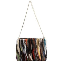 Christian Louboutin Triloubi Chain Bag Multicolor Fur Small