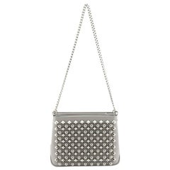 Christian Louboutin Triloubi Chain Bag Spiked Leather Small