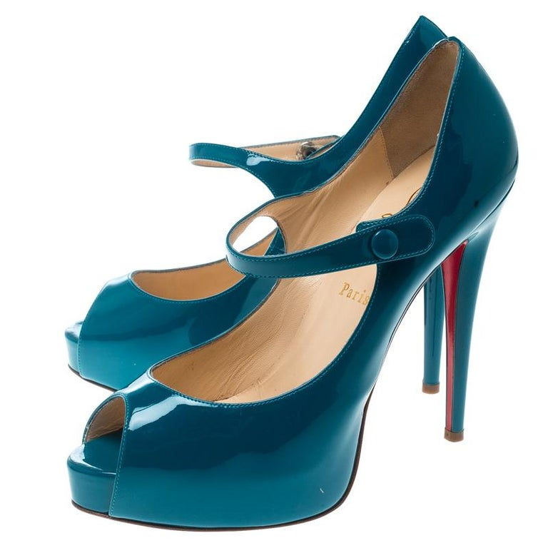 Christian Louboutin Alta Poppins Leather Platform Pumps in