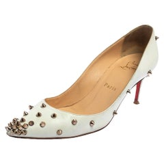 Christian Louboutin White Leather Pigalle Pumps Size 36