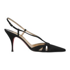 Christian Louboutin Woman Pumps Black Fabric IT 38.5