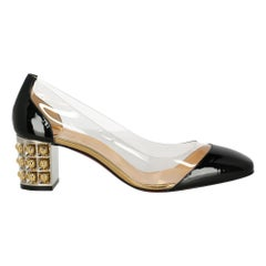Christian Louboutin Woman Pumps Black Synthetic Fibers IT 38.5
