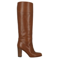 Christian Louboutin Women  Boots Camel Color Leather IT 38.5