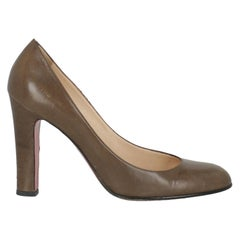 Christian Louboutin Women  Pumps Brown Leather IT 38