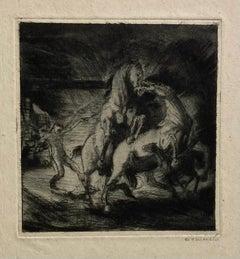 (Fighting Horses)